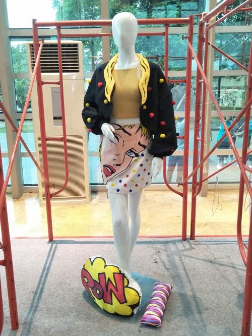 Kolaborasi Animasi dan Fashion (Foto: Aprilia/Okezone)
